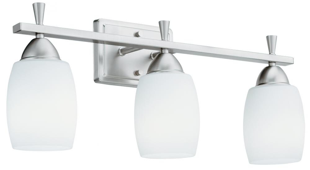Ferros 3 light brushed nickel compact fluorescent vanity light ferros 3 light brushed nickel compact fluorescent vanity light aloadofball Gallery
