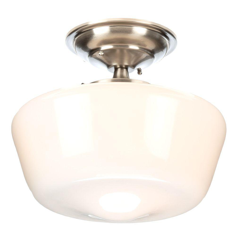 Luray collection 1 light brushed nickel semi flush mount light luray collection 1 light brushed nickel semi flush mount light arubaitofo Image collections
